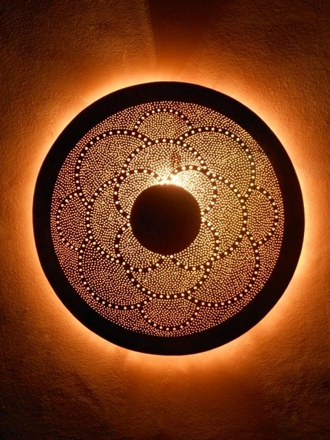 Decoriental lampe fer forg for Appliques murales en fer forge